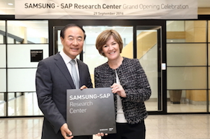 Samsung and SAP open in-memory research centre